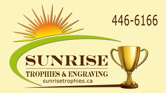 Sunrise Trophies Driveway Sign