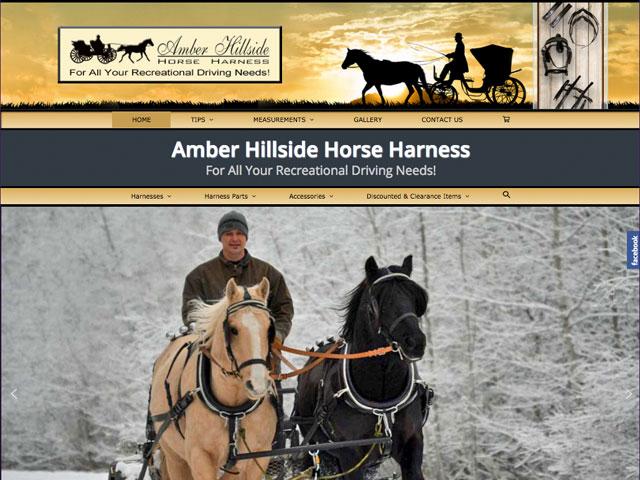 Amber Hillside Horse Harness