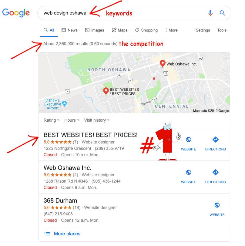 Google Search Rank #1